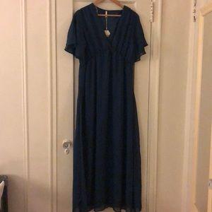 Maternity Chiffon Maxi Dress